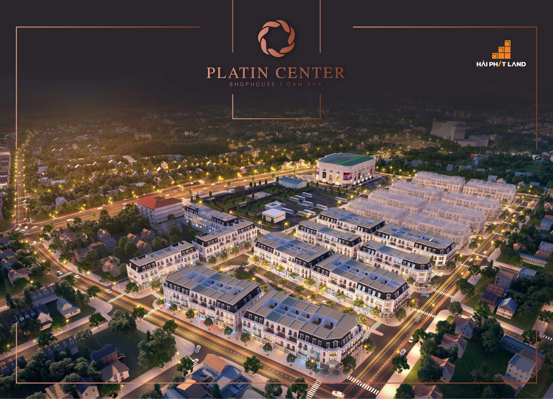 Phối cảnh dự án Shophouse Platin Center Cẩm Phả