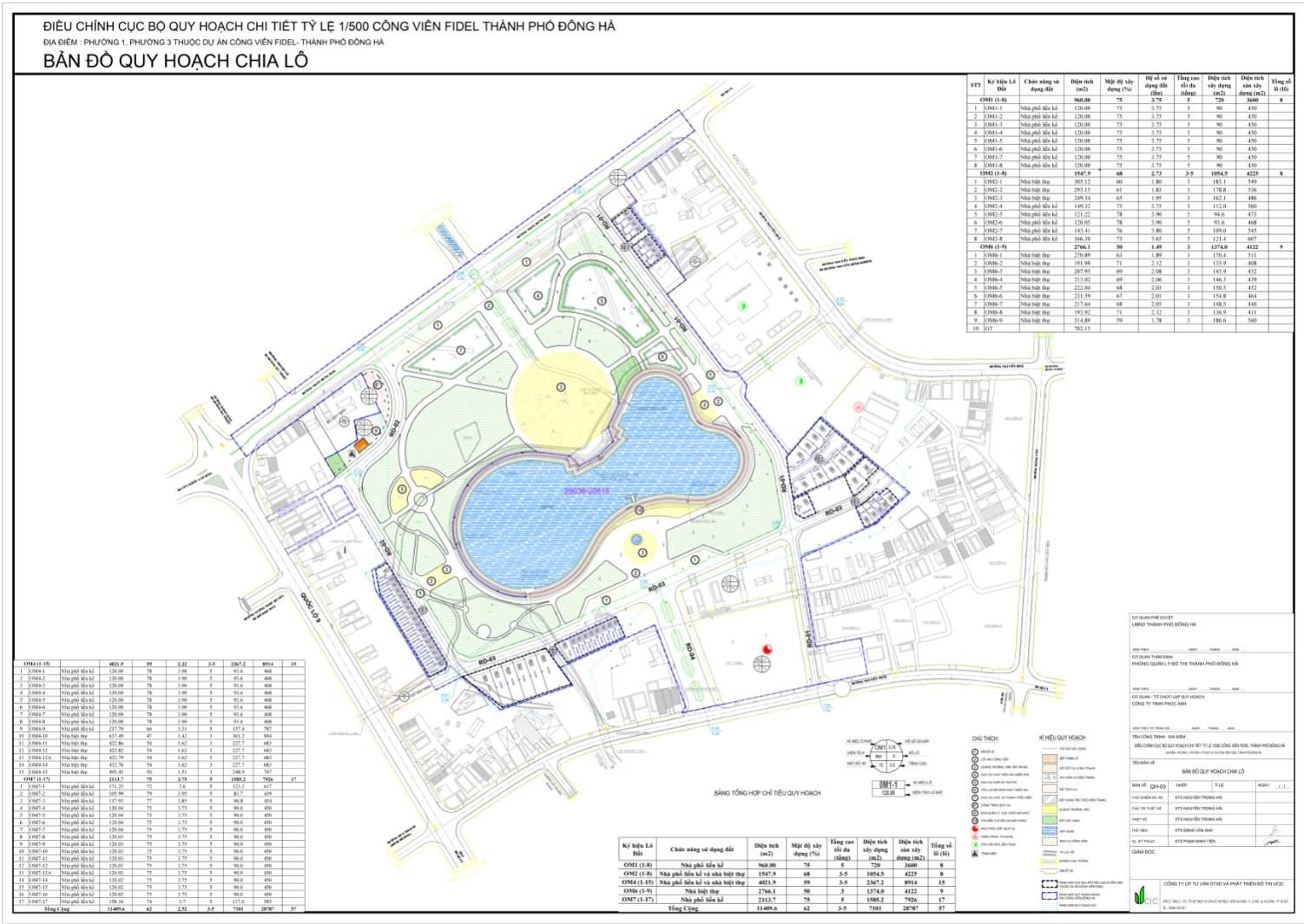 sơ đồ chi tiết Fidel Central Park Đông Hà