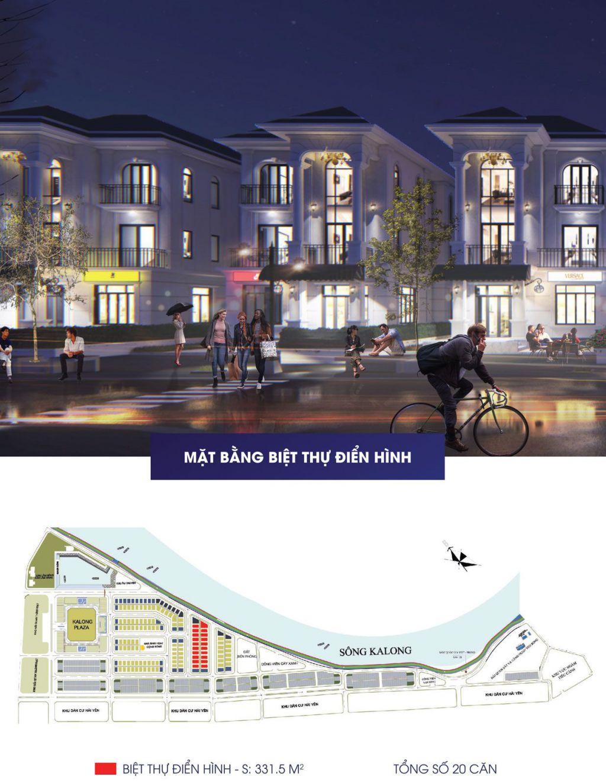 Biệt thựRoyal Riverside City gồm151 căn