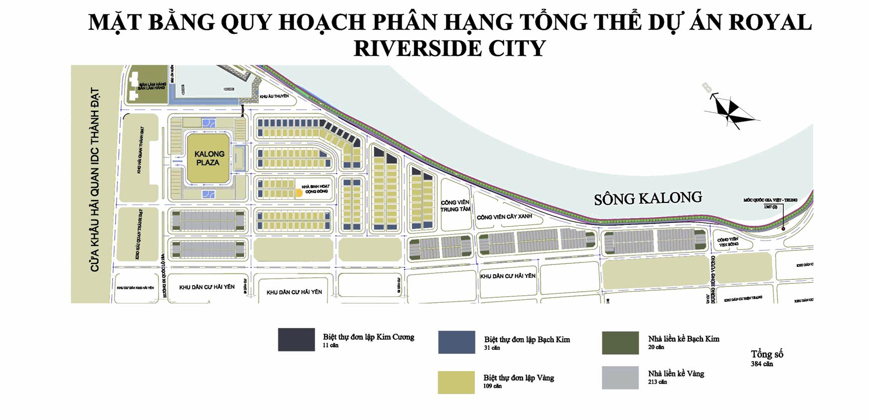 Mặt bằng quy hoạch Royal Riverside City Móng Cái