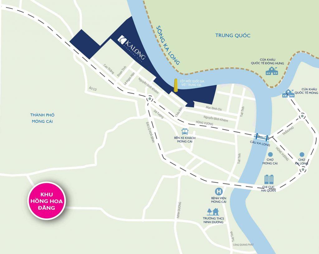 Vị trí dự ánRoyal Riverside City Móng Cái